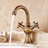 Faucet do banheiro do punho da bacia de Flg único com bronze contínuo