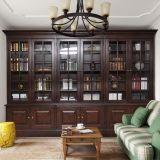 Tür-Bücherschrank-Schrank-Möbel des dunkle Farben-Büro-6 (GSP18-003)