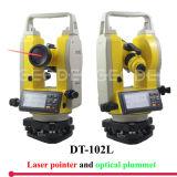 Theodolite Dt-102L do laser com ponto do laser de 200m