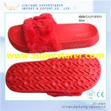 Deslizador de inverno de moda, chinelo de pele confortável para senhoras