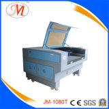 1*0.8mの作業域(JM-1080T)の専門の織物レーザーのカッター