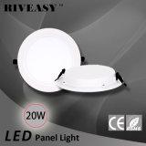 acrylique rond LGP d'éclairage LED de Downlight de voyant de 20W DEL avec le grand voyant de radiateur