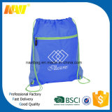 Qualität Sport Nylon Drawstring Backpack Bag mit Front Zipper