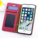 iPhoneのための贅沢なフリップPUの細い革箱7 7plus