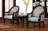 Cadeira cadeiras clássico Pátio Set antigo braço feito de tecido e madeira com a Tabela classcial
