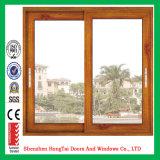 Окно скольжения деревянного зерна алюминиевое
