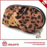 Saco cosmético do leopardo feito sob encomenda relativo à promoção, saco da composição