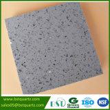 Parte superiore grigia di vanità della pietra del quarzo della scintilla di prezzi di fabbrica/parte superiore della cucina