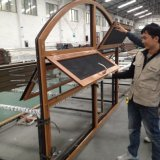 China Fabricante Aluminio Doble Acristalamiento Top Hung / toldo Windows