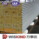 El panel de emparedado de acero del aislante de las lanas de roca de la alta calidad