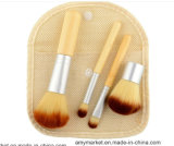 Никакие инструменты красотки ручки логоса Bamboo не составляют комплект щетки 4 PCS с Linen мешком