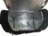L'orealおよびSedexの証明書が付いている黒いポリエステルクーラー袋