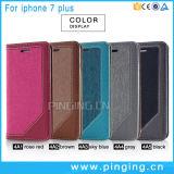 Caixa de couro magro do plutônio da aleta luxuosa para o iPhone 7 7plus
