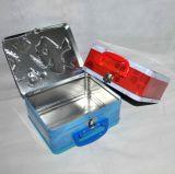 Griff-Mittagessen-Zinn-Kasten Packagingmetal Nahrung