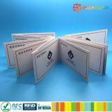 Tarjeta ultraligera del boleto del papel del transporte de ISO1443A MIFARE C RFID