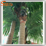庭の装飾の人工的な擬似ガラス繊維のココヤシの木の木