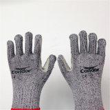 Hppe/перчатки безопасности стеклянного волокна с микро- шить волокна