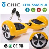Vespa de equilibrio del patín del uno mismo eléctrico de la rueda de Bluetooth 2, transportador personal, fácil llevar