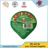 125ml pp. Plastikcup-Aluminiumfolie-Deckel