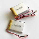bateria recarregável de Lipo do polímero do lítio de 3.7V 1200mAh com o conetor de Jst para os E-Livros móveis 603450 da almofada do jogo video do GPS DVD