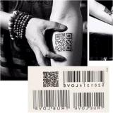 Etiquetas engomadas temporales impermeables del tatuaje del tótem del código de barras