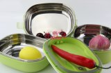 Rectángulo de almuerzo caliente del mantiene del color del acero inoxidable (FT-03001)