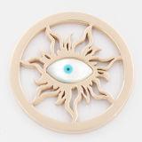 Идущая плита монетки глаза приспособленная для ювелирных изделий способа Locket привесных