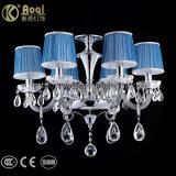 Luzes azuis do candelabro da tampa de tela