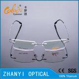 Het lichtgewicht Randloze Frame van de Glazen van Eyewear van het Oogglas van het Titanium Optische met Scharnier (8508-C1)
