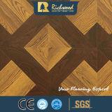 étage en stratifié bordé ciré par vinyle stratifié de cerise de parquet gravé en relief par 12.3mm