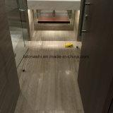 Losas de mármol de madera grises claras para el suelo y la pared