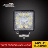 사각 8 LEDs 4 인치 24watt LED 일 빛