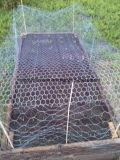 Шестиугольное плетение провода (гальванизированные электрические)