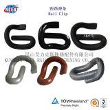 Schwarzes angestrichener elastischer Schienen-Klipp für Typen 1609 System e-2055