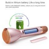 Karaoke van de Microfoon van het aluminium de Materiële Magische voor de Telefoon van de Cel