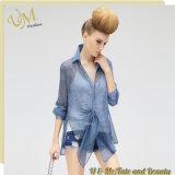 La mode complète la chemise transparente de femmes de modèle pour l'usine de vêtement