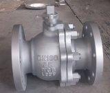 Válvula de bola de engrenagem sem-fim Wcb de aço flutuante DIN (Q341F-PN25-DN100)
