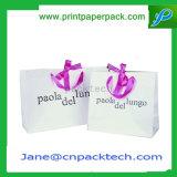 Saco de compra feito sob encomenda das bolsas do presente da forma do logotipo da impressão