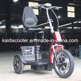 Scooter électrique mobile à 3 roues pliable pour adultes de 500 W avec panier