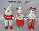 "22 ""H Christmas Home Decoración Self Sitter con Cute Shoes-3asst"