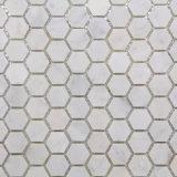 Мозаика мрамора шестиугольника Cararra типа горячего сбывания новая
