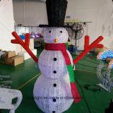 Luz impermeável encantadora e elevada do boneco de neve do diodo emissor de luz da alta qualidade da decoração do Natal