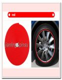 Linha vermelha tira de borracha do protetor do pneu do anel do protetor de borda da borda do cubo de roda do carro