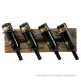 Het elegante Rek van de Vertoning van de Fles van de Wijn van de Gift Creatieve Houten Muur Opgezette