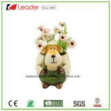 Estatuilla de la maceta de las ovejas de la resina para la decoración del hogar y del jardín