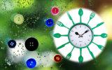 Horloge de mur décorative de quartz de 10 pouces de cuisine
