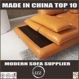 Meubles européens simples L sofa jaune sectionnel d'entrée de forme