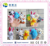 Hot Sell Interactive Plush Aniaml Finger Puppet Toy