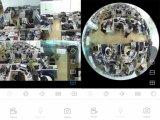 물고기 눈 사진기 3D 360 HD 960p WiFi IP Vr