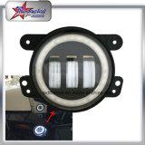 """4 """"Round Fog Light para Jeep Wrangler Jk, 4 polegadas 30W carro LED DRL luz de nevoeiro com anel de halo para carros Toyota Caminhão de motocicleta"""